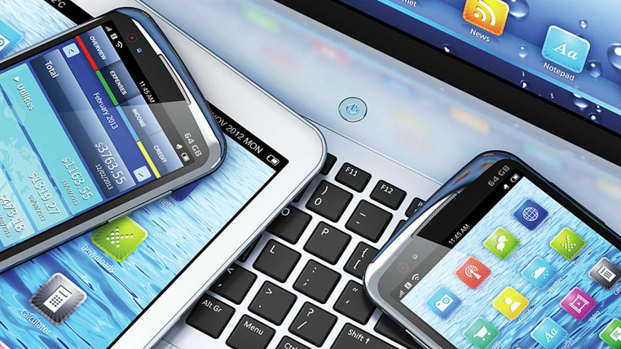 Telekomunikace, mobilní telefon - ilustrační obrázek