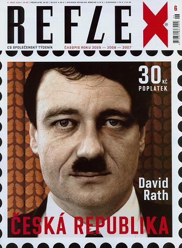 Rath na obálce Relfexu jako Hitler