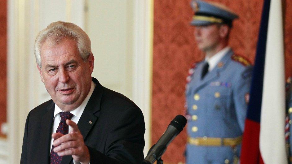 Miloš Zeman po jmenování Jiřího Rusnoka premiérem