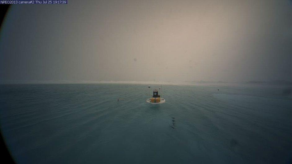 Jezero vzniklé na severním pólu