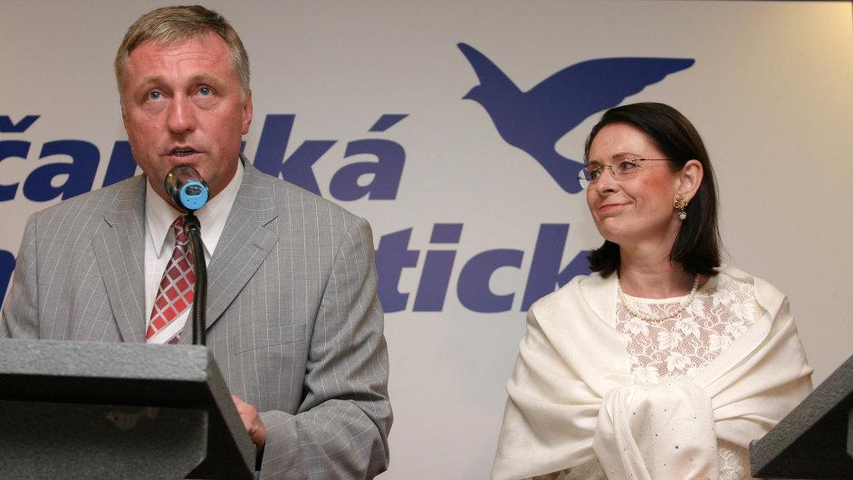 Miroslava Němcová a Mirek Topolánek v roce 2006