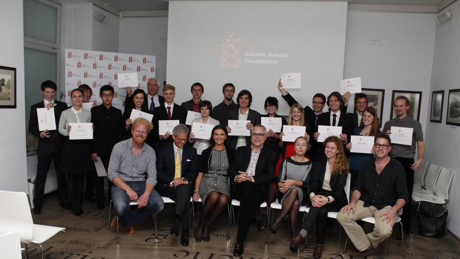 Studenti, kteří získali stipendium v rámci programu Scholarship Nadace Zdeňka Bakaly