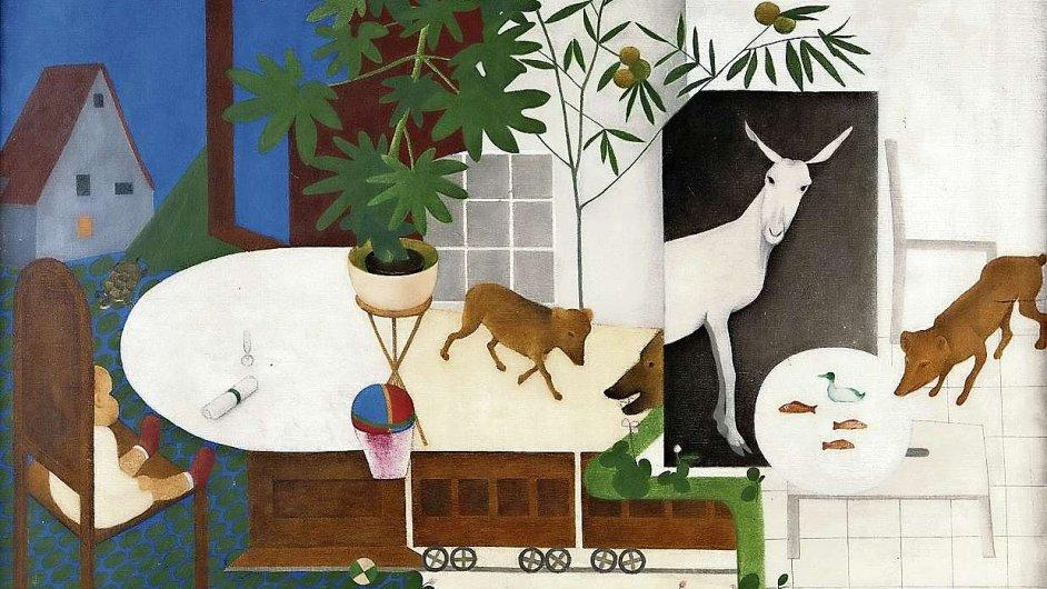 Obraz Dětský svět malířky Vostřebalové Fischerové vznikl před skoro 90 lety.