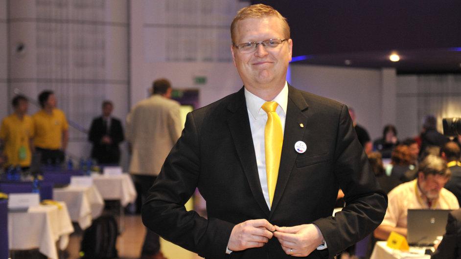 Volební sjezd KDU-ČSL 23. května v Kongresovém centru ve Zlíně. Předseda strany Pavel Bělobrádek.