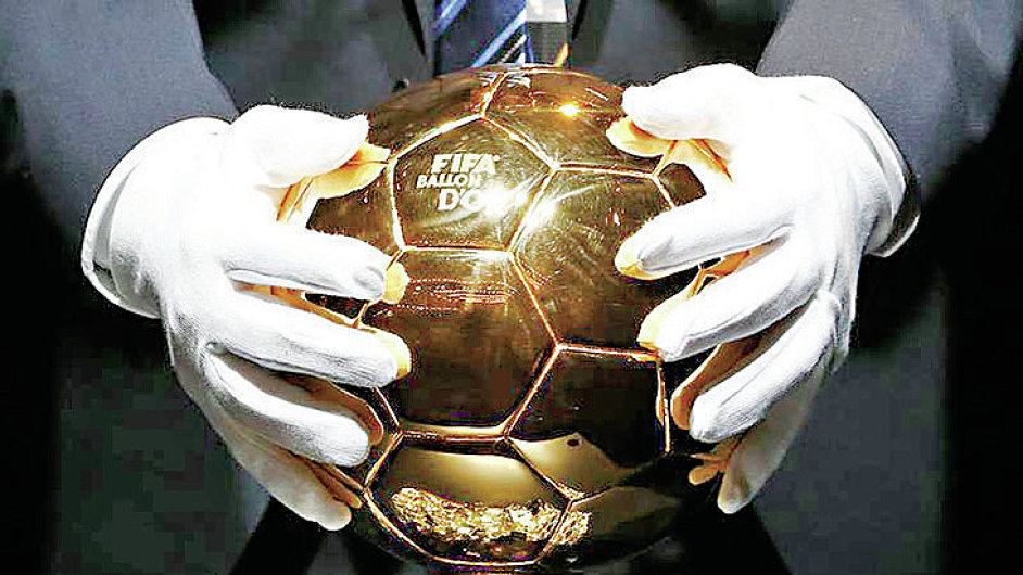 The trophy for the 2014 FIFA World Player of the Year