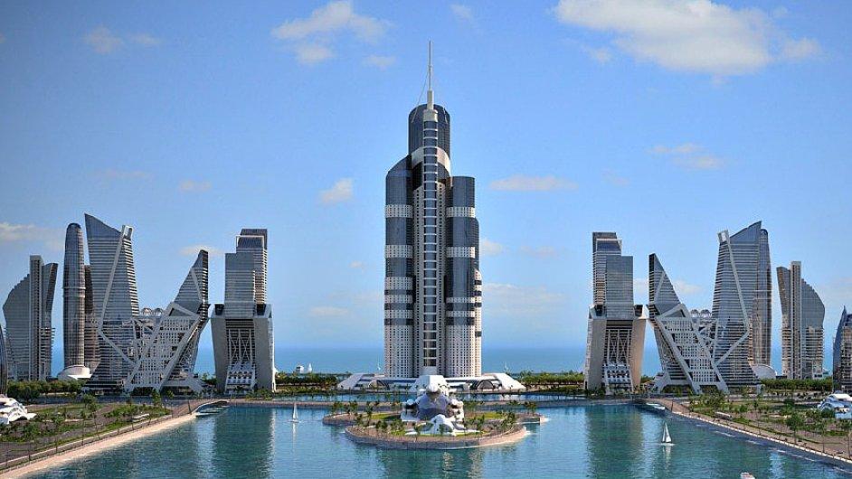 Projekt Khazar Islands - V Baku má vyrůst nejvyšší budova světa