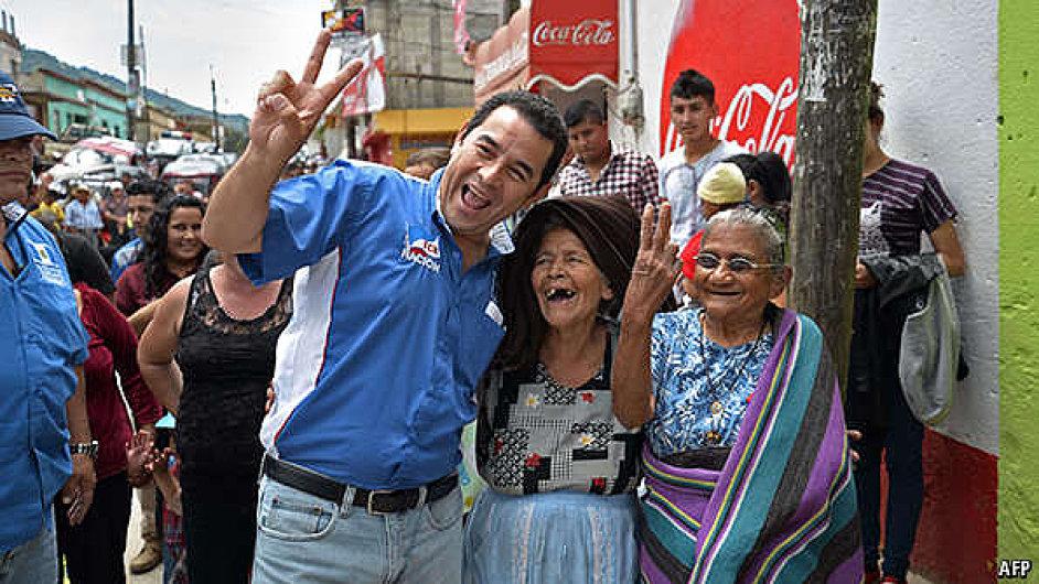 Vítěz voleb a nastávající prezident Jimmy Morales