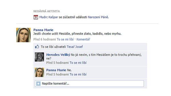 V Betlémě to na facebooku žije.