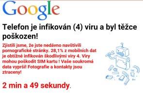 České uživatele Androidu straší reklama, která vede na falešný antivirus