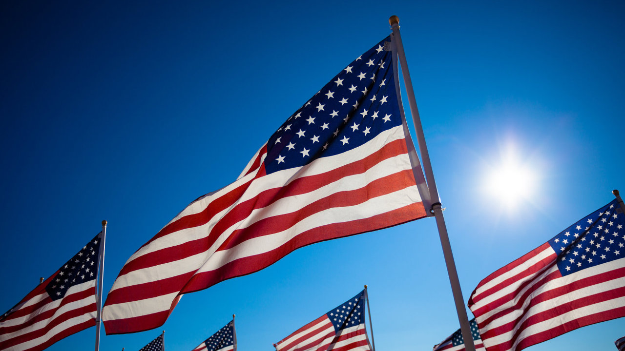 USA Amerika Americká vlajka ekonomika