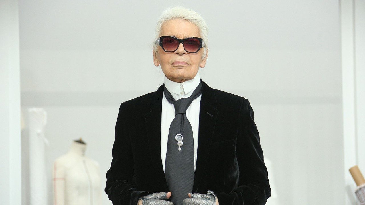Karl Lagerfeld walks the runway during the Chanel Haute Couture Fall/Winter 2016-2017 show as part of Paris Fashion Week ON July 5