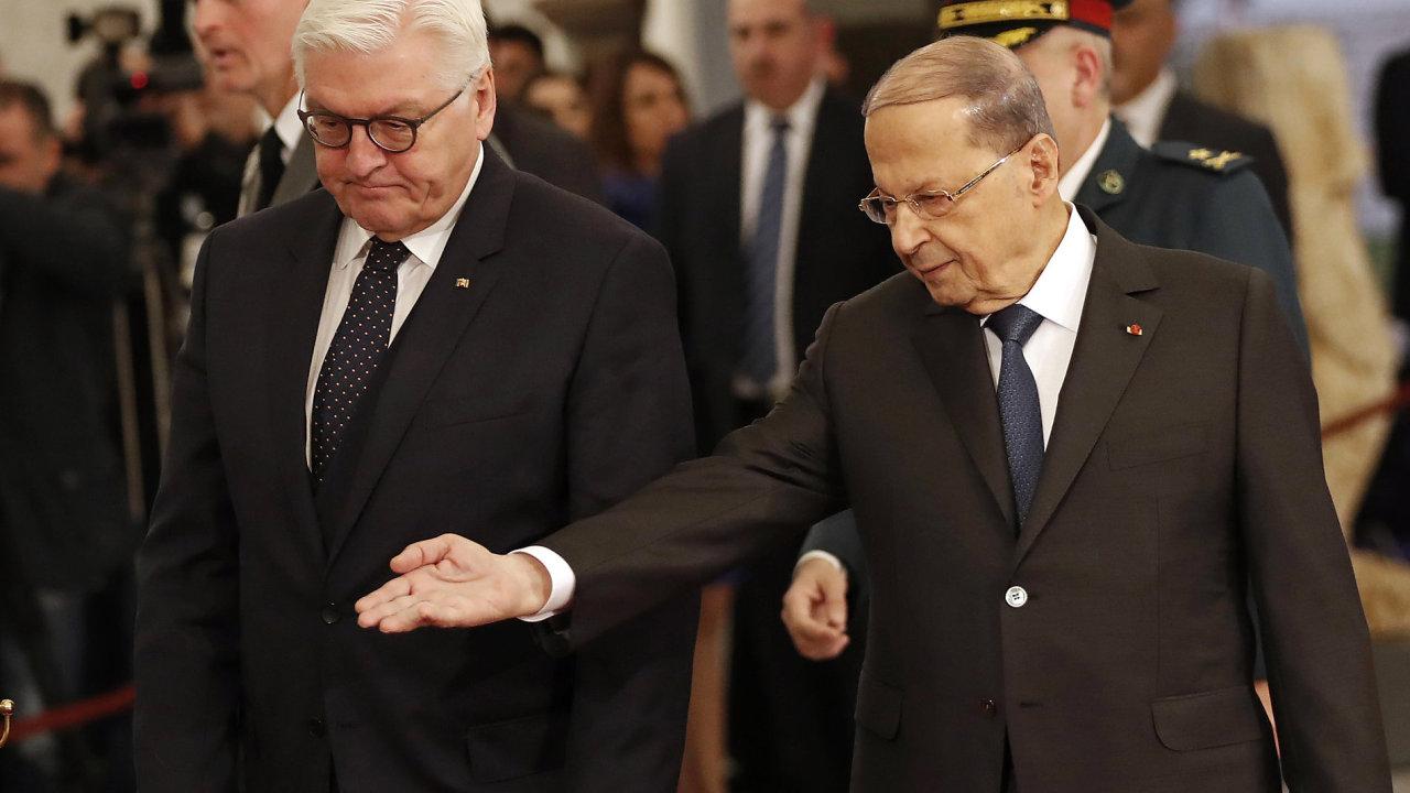 Lebanese President Michel Aoun; Steimeier