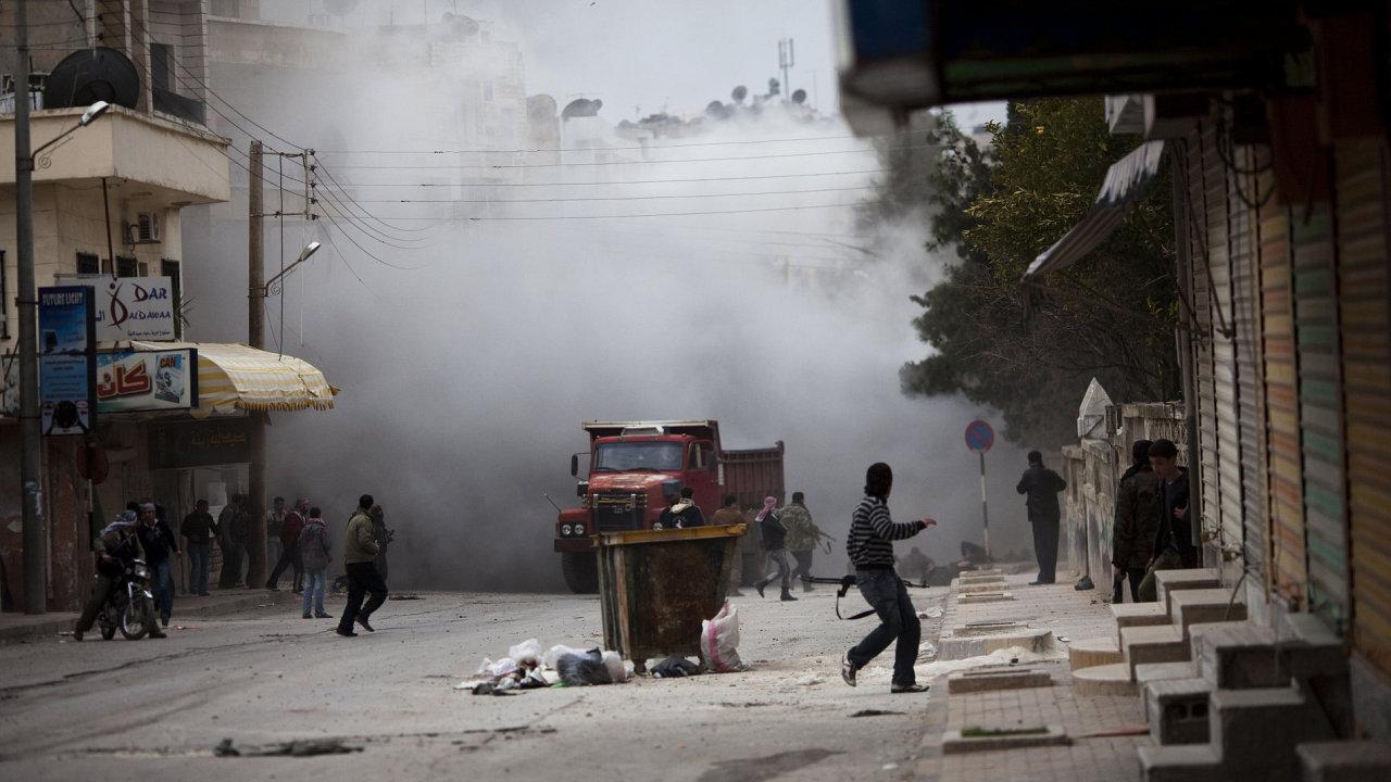 Syrské město Idlíb