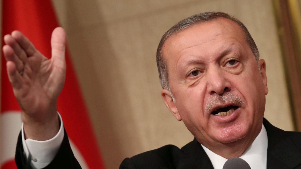Turecký prezident Recepp Tayipp Erdogan.