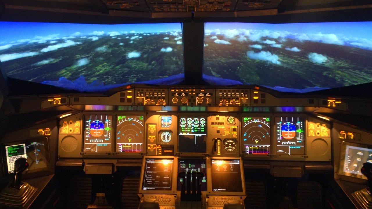 Letecký simulátor Airbusu 380