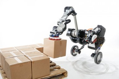 Robot Handle je vhodný hlavně pro práci v logistice.