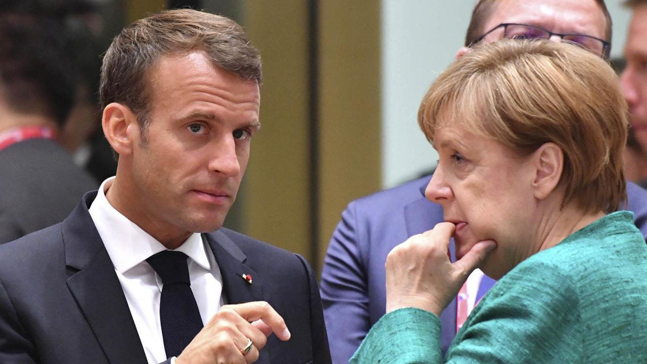 Dohodneme se? Francouzský prezident Macron aněmecká kancléřka Merkelová se zatím nedokázali domluvit naspolečných kandidátech.