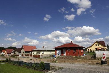 V Česku rychle přibývá rodinných domků.