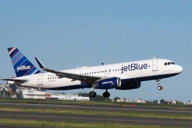 Airbus A320 společnosti JetBlue - Ilustrační foto.