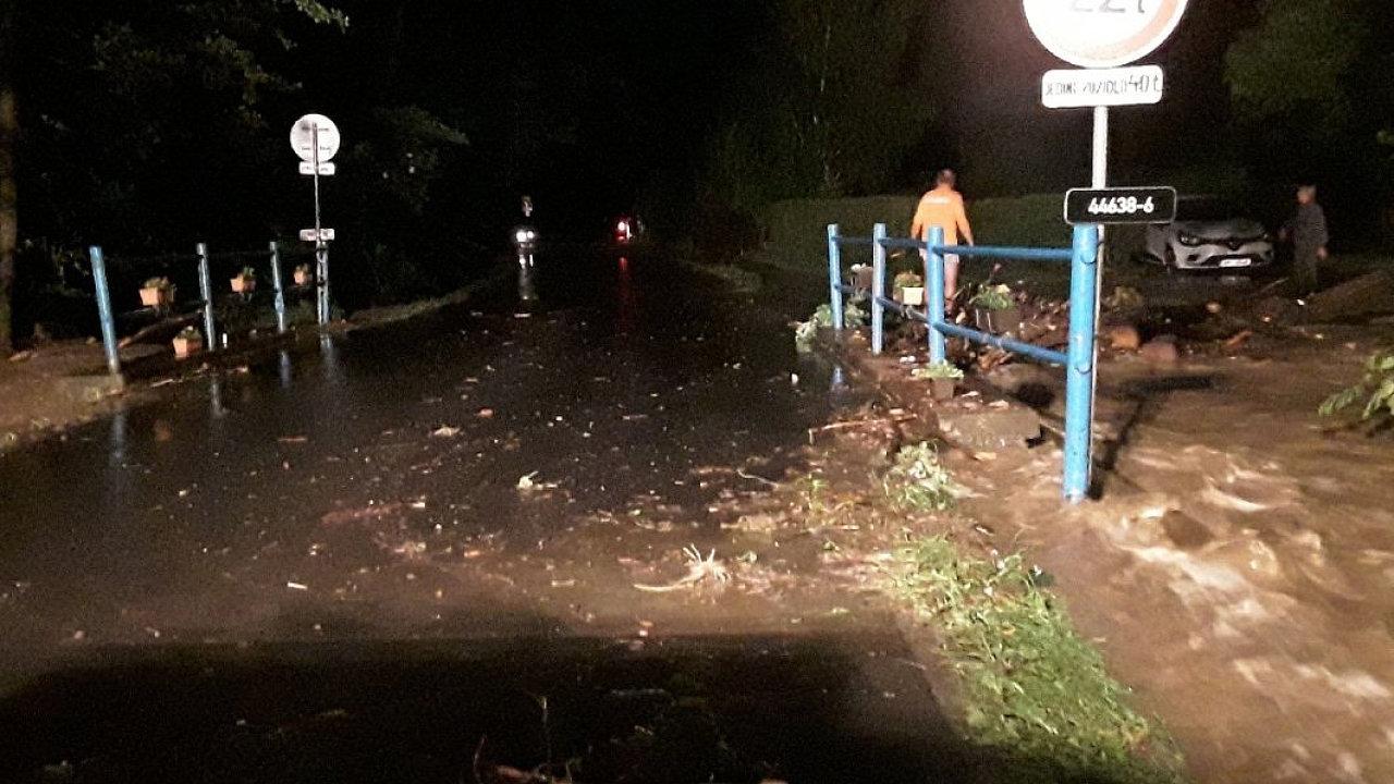 Lokální záplavy na Olomoucku.