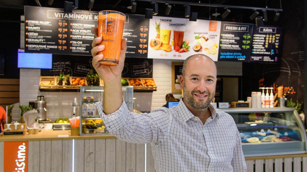 Zakladatel, šéf a majitel sítě ovocných barů Fruitisimo Jan Hummel.