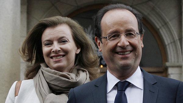 François Hollande se svou partnerkou Valérií Trierweilerovou