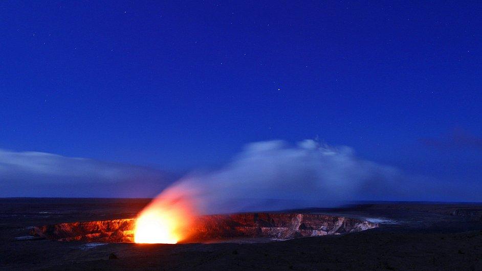 Sopka Kilauea.