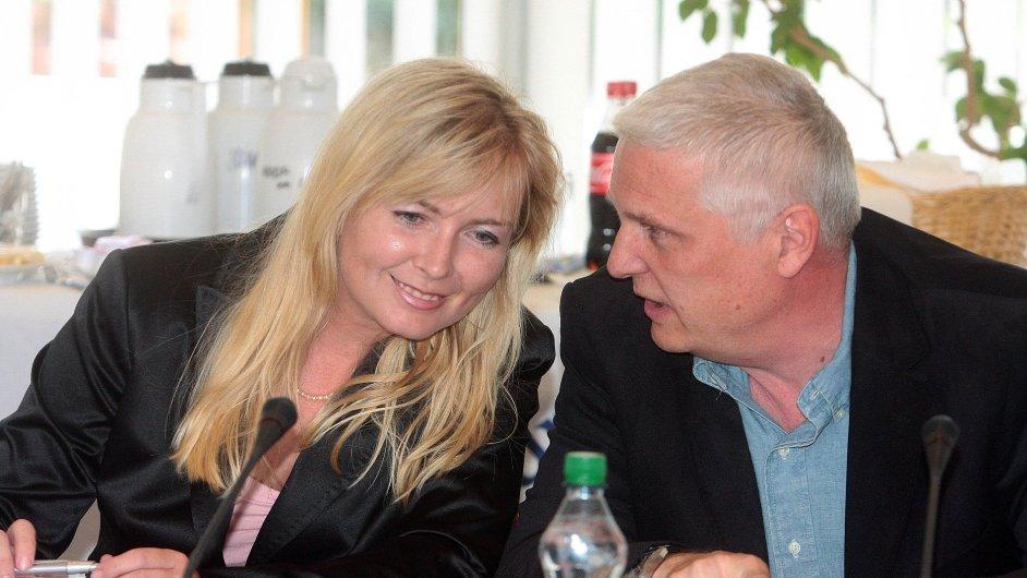 Dana Makrlíková na zasedání Rady ČT