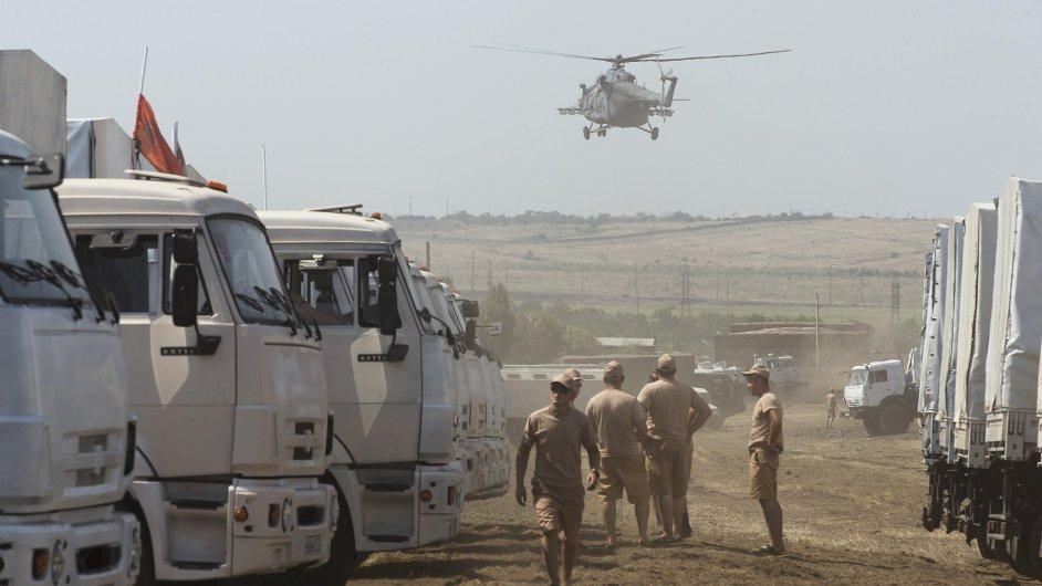 Ruský humanitární konvoj (ilustrační foto).