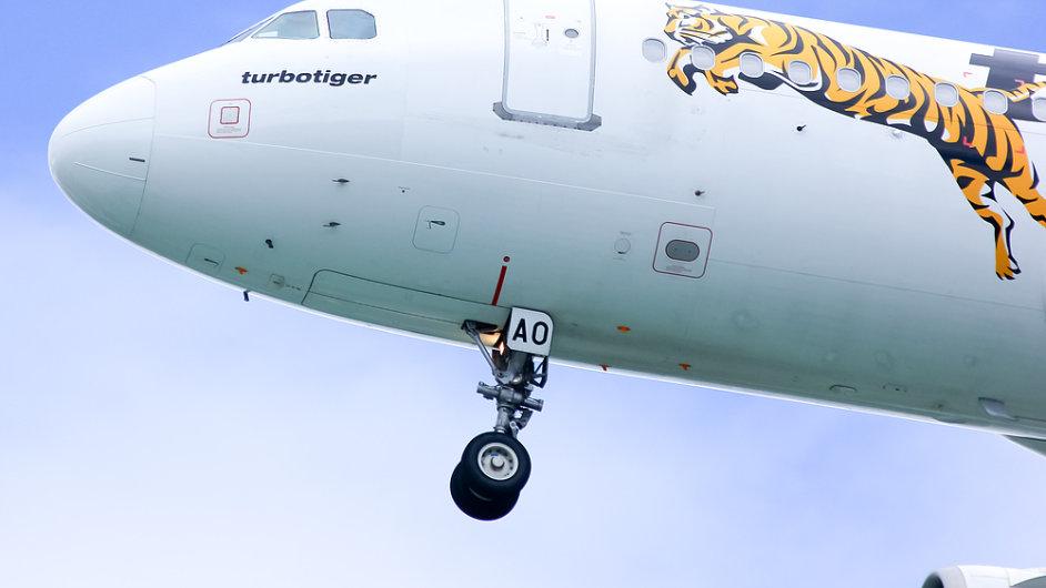 Letadlo společnosti Tiger Airlines