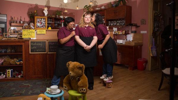 Tréninková kavárna Láry Fáry, kterou provozuje oceněné sdružení Pferda