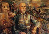 Kokoschkův portrét Tomáše Garrigua Masaryka.