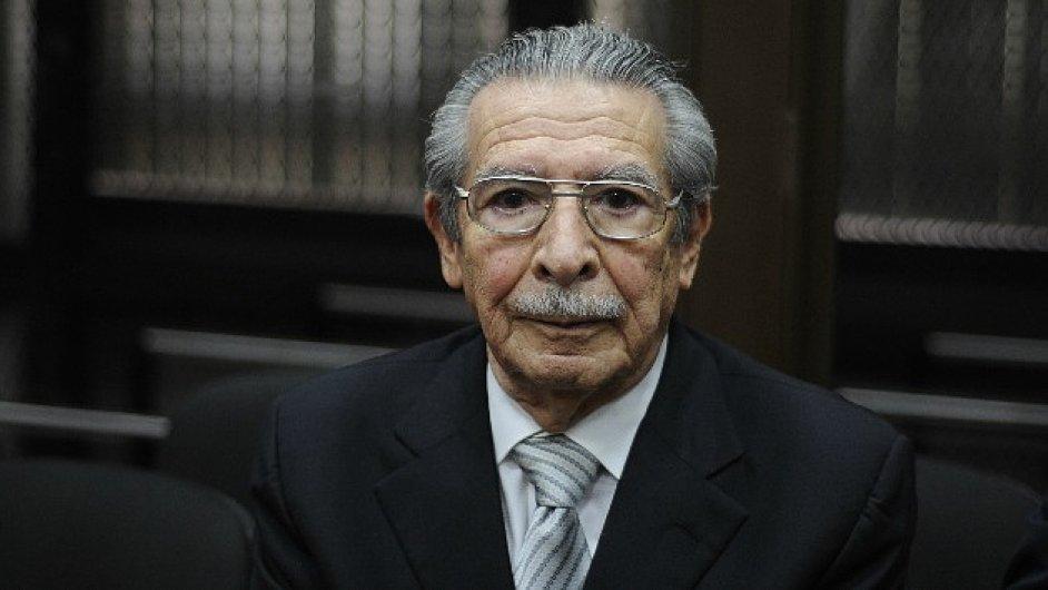 Bývalý guatemalský diktátor Efraín Ríos Montt