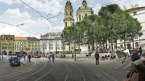 Z Malostranského náměstí má zmizet parkoviště k 1. červenci 2016.