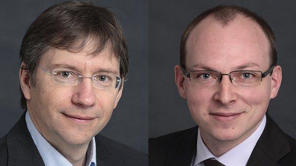 Radek Jal�vka a Jakub Mal� (zleva)