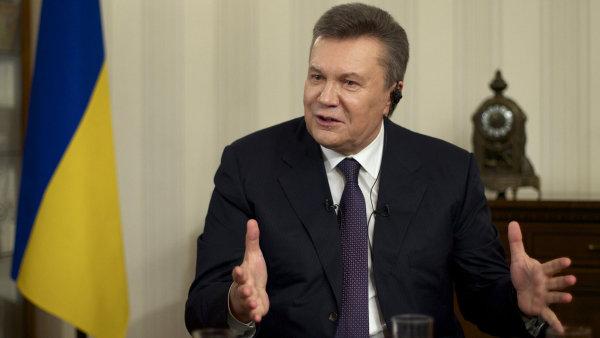 O zmrazen� Janukovy�ova majetku unii kv�li rozs�hl�m podez�en�m ze zpronev�ry st�tn�ch pen�z po��dala Ukrajina.