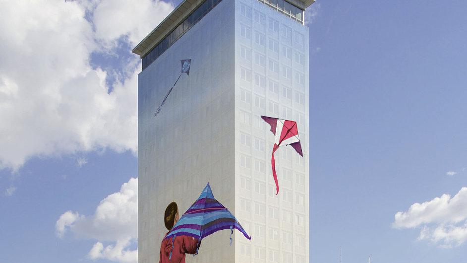 Na snímku je vizualizace díla Ivana Exnera pro vídeňskou centrálu Vienna Insurance Group.