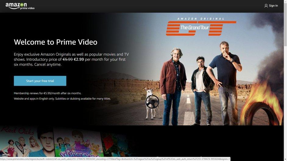Amazon Prime Video je i v Česku