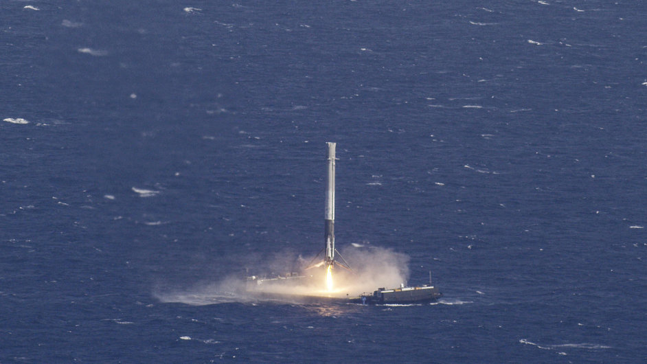 Raketa společnosti SpaceX.