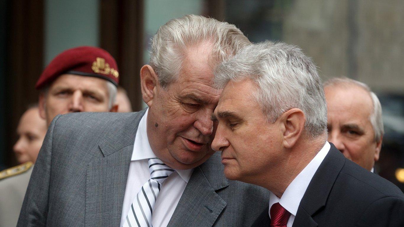 Miloš Zeman a Milan Štěch