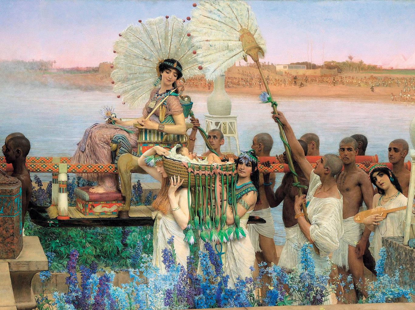 Lawrence Alma-Tadema: Nalezení Mojžíše, 1904, soukromá sbírka