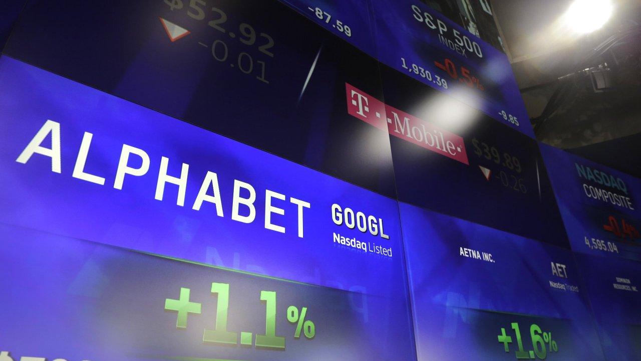 Skupina Alphabet je majitelem internetové společnosti Google.