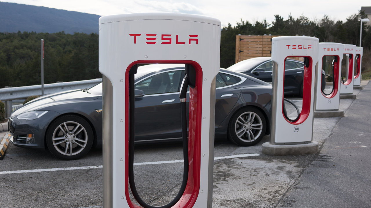 Nabíječky Tesla Supercharger