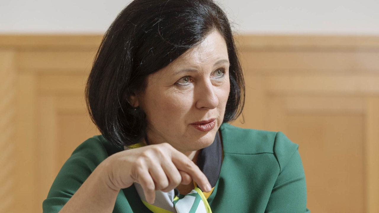 Evropská komisařka Věra Jourová