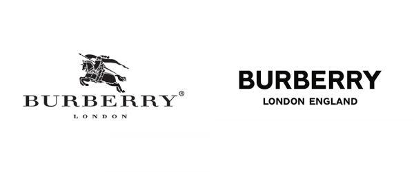 Logo Burberry před a po