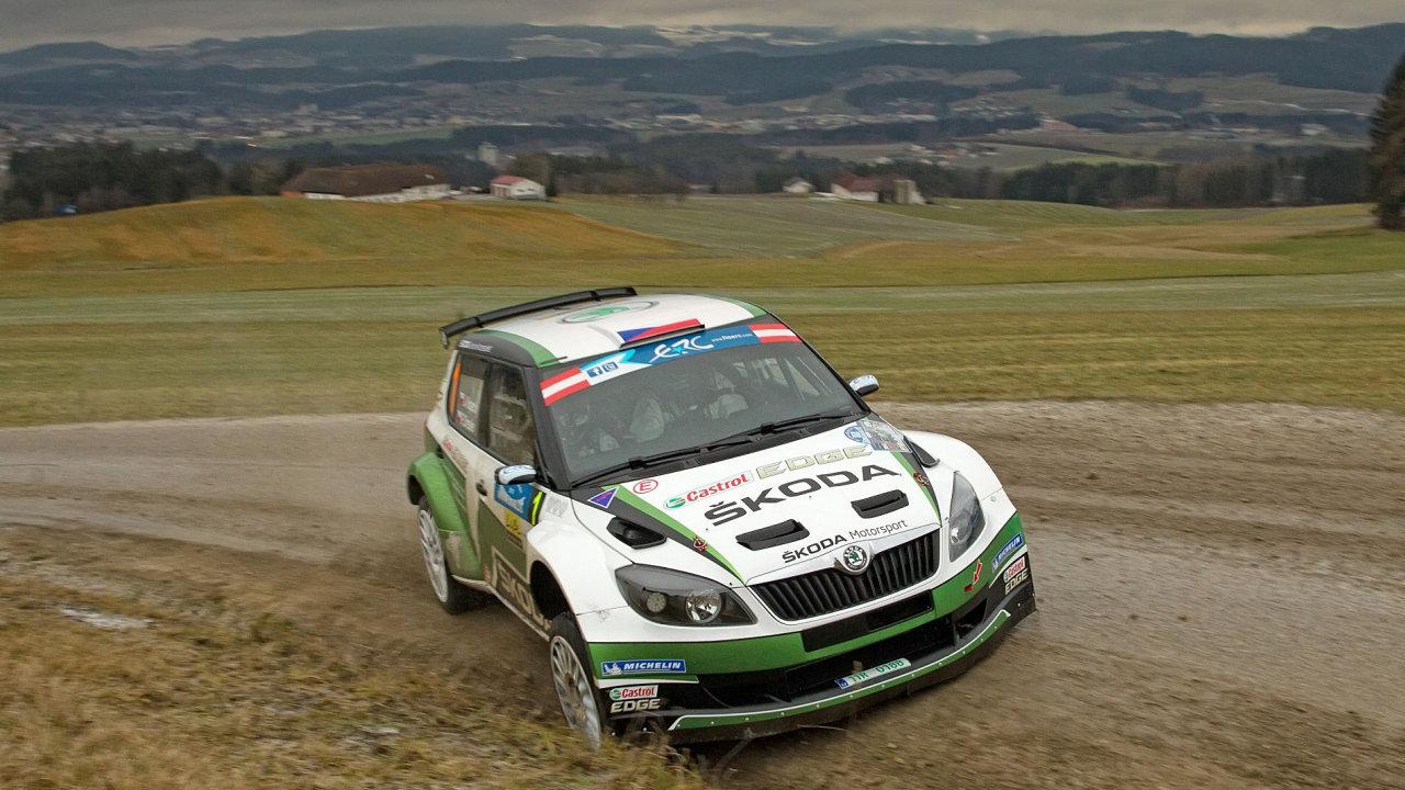 Tovární tým Škody Auto ve složení Jan Kopecký - Pavel Dresler s vozem Škoda Fabia S2000