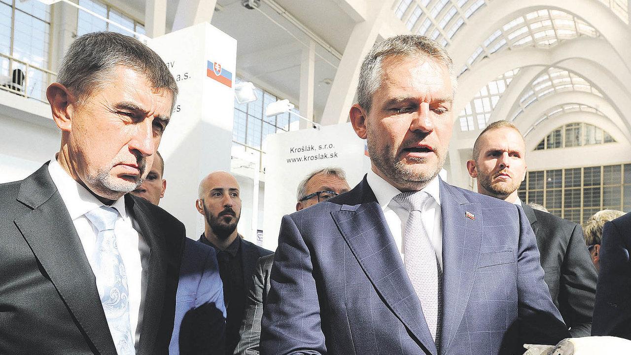 Premiéři Česka a Slovenska Andrej Babiš a Peter Pellegrini.