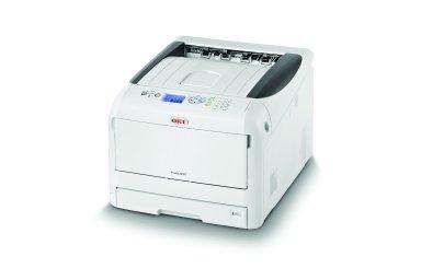 Tiskárna s bílým tonerem pro tisk na přenosová média OKI Pro8432WT