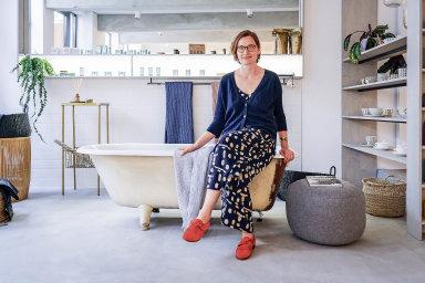 Eva Urbanová otevřela nedávno v pražském Karlíně pobočku své prodejny s designovým zbožím Nila