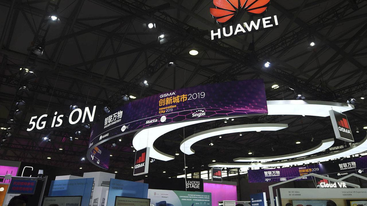 Prezentace Huaweie na Světovém mobilním kongresu v Šanghaji.